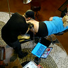 8-6-14<br /> Timothy Boor tattooing Leah Jakaitis at Bohemian Tattoo Club at 206 North Main Street.<br /> Tim Bath | Kokomo Tribune