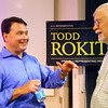 8-11-14<br /> Representative Todd Rokita at a question and answer session at IUK on Monday. At the end he talked to a few people one on one including Jim Hagaman.<br /> Tim Bath | Kokomo Tribune