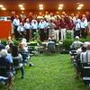 8-6-14<br /> Barbershop Harmony Festival<br /> The Kokomo Men of Note Chorus sings with The Tippecanotes Chorus in Highland Park on Wednesday evening during the Barbershop Harmony Festival.<br /> Kelly Lafferty   Kokomo Tribune