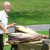 8-2-14<br /> Medieval Festival benefiting Day of CHANGE<br /> Larry Barnhart does a blacksmith demonstration in Foster Park during the Medieval Festival benefiting Day of CHANGE.<br /> Kelly Lafferty | Kokomo Tribune