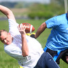5-17-14<br /> Buddy Bowl<br /> Curt Rawlings gets his flag pulled off by Shawn Cherty during the Buddy Bowl flag football game on Saturday.<br /> Kelly Lafferty | Kokomo Tribune