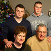 12-24-12<br /> Karen and Mike Gale with their boys Eric and Alek who are home from serving for the holidays.<br /> KT photo | Tim Bath
