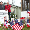 12-19-12<br /> Sandy Hook memorial<br /> Rick and Denise Gunning stand with their memorial for the victims of Sandy Hook Elementary School.<br /> KT photo | Kelly Lafferty