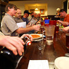 11-19-12<br /> Home Brewers Club at Half Moon Pub<br /> Ron Kingery pouring one of the home brews a member brought for tasting.<br /> KT photo | Tim Bath
