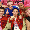 12-15-12<br /> Out and About Kokomo High School boys basketball game<br /> Front row left to right: Brent Noll, Josh Stewart, Craig Simon<br /> Back row: Cody Detamore and Bryce York<br /> KT photo | Kelly Lafferty