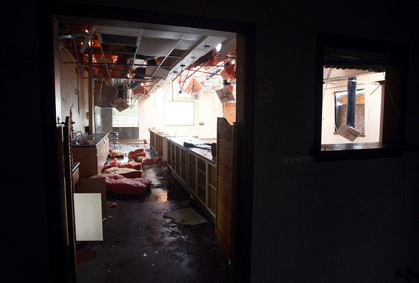 12-3-13<br /> Louies Coney Island<br /> The view of the totalled dining area of Louies Coney Island from the kitchen.<br /> KT photo | Kelly Lafferty
