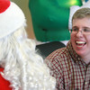 12-18-13<br /> Western's Christmas Party <br /> Western High School student Hunter Braden grins as he talks to Santa when he visited the high school on Wednesday.<br /> KT photo | Kelly Lafferty