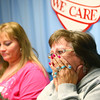 12-8-13<br /> We Care Sunday<br /> We Care volunteer, Fern Fennell, reacts after she gets off the phone with the highest bidder of the We Care 2013 hope doll. It went for $10,000.<br /> KT photo | Kelly Lafferty