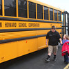 12-5-13<br /> Eastern transfer students get off the bus at New Life Church in Kokomo on Thursday afternoon after school.<br /> KT photo | Kelly Lafferty