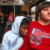 12-6-13<br /> Kokomo students learning the trolley<br /> Monique Little and Luke Walker ride the trolley from Kokomo High School to the bus station in town to learn how the Kokomo trolley system works.<br /> KT photo | Kelly Lafferty