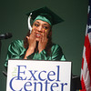 5-9-14<br /> Excel Center Graduation<br /> Krystal Watters gets emotional during a speech of how The Excel Center impacted her life. Watters graduated with her diploma on Friday evening.<br /> Kelly Lafferty | Kokomo Tribune