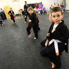 1-28-13<br /> Kids from 3-6 years old doing martial arts at Indiana Pit.<br /> Brady Hightower, 5, practicing his kicks.<br /> KT photo | Tim Bath