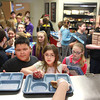 2-18-14<br /> Taylor Middle School/High School lunch<br /> Sixth graders Lucio Perez and Melissa Hedquist stand at the front of the line at one of the lunch stations at Taylor High School.<br /> KT photo | Kelly Lafferty