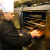 2-6-14   ---  Rescue Mission Chef Anthony Brunnermer working in the kitchen at the mission preparing lunch and dinner. -- <br />   KT photo   Tim Bath