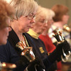 2-19-14<br /> Hand bell practice at Shiloh United Methodist Church<br /> Claudia Bergman participates in hand bell practice at Shiloh United Methodist Church.<br /> KT photo | Kelly Lafferty