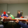 2-12-14   --- The Epworth League meeting at Main Street UMC is a group of young people who meet for spirituality and religious talk. A.J. Schuh, Vincent Metzler, Kate Sozansky and Emily Wittaker sing a song at the beginning of the meeting. -- <br />   KT photo | Tim Bath