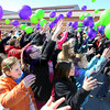 2-28-14   --- Western Middle School students launch balloons to bring awairness to Rare Desease Day and Idic15 Canada.  The class was working on a project on Canada when they found this organization that helps people the rare disease called Chromosome 15q11.2-13.1 Duplication Syndrome. -- <br />   KT photo | Tim Bath
