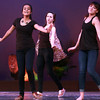 2-12-14<br /> Distinguished Young Women rehearsal<br /> Minal Patel of Lawrence County (front, left) and Bay Cope of Bremen rehearse the opening act of the Distinguished Young Women program at IUK's Havens Auditorium.<br /> KT photo | Kelly Lafferty