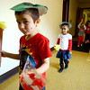 2-10-14   --- Bona Vista students on an Olympic Parade through the halls. This group of 4 and 5 year-olds is led by Ryan Cannon with Iasia Nix following behind along with the rest of the class.<br /> -- <br />   KT photo | Tim Bath