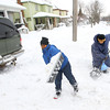 2-5-14   ---  Duece Kyles, 10, and his grandma Mary Geiter shoveling the driveway at 1028 South Washington Street. -- <br />   KT photo | Tim Bath