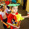 2-10-14   --- Bona Vista students on an Olympic Parade through the halls. This group of 4 and 5 year-olds is led by Ryan Cannon<br /> -- <br />   KT photo | Tim Bath
