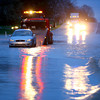 4-19-13<br /> Flooding throughout Kokomo and Howard County due to over 4 inches of rain.<br /> A tow truck removing a car that was stranded in high water on Ind. 26 east of US 31.<br /> KT photo | Tim Bath