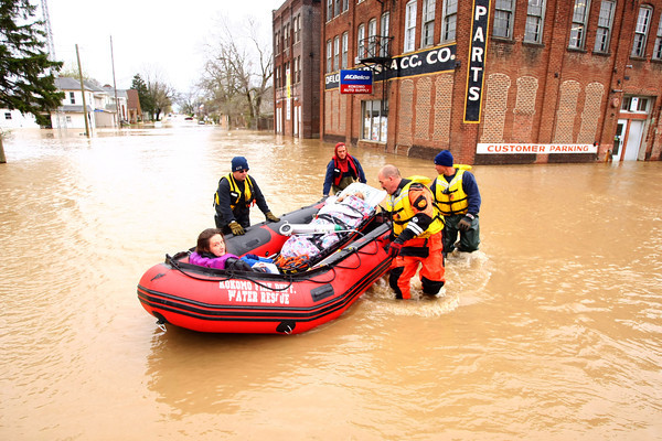 4-19-13<br /> Flooding throughout Kokomo and Howard County due to over 4 inches of rain.<br /> KT photo   Tim Bath