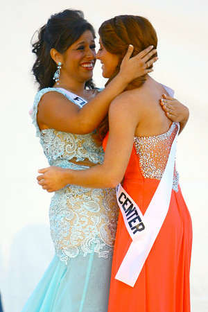 7-8-14<br /> Howard County Fair Queen runner up Allie Dicken and Fair Queen Caitlyn O'Neal congratulate each other at the end of the contest.<br /> Tim Bath | Kokomo Tribune