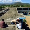 2-21-14   --- Solar Electric system installed in Bas Limbe, Haiti at Our Lady of Mt Carmel Catholic Church. New LED lights are installed on the roof of the school.  -- <br />   KT photo | Tim Bath