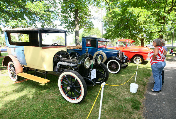 7-4-14<br /> Haynes Apperson Friday<br /> A 1916 Haynes is on display at Foster Park during the Haynes Apperson Festival.<br /> Kelly Lafferty | Kokomo Tribune