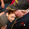 4-5-14<br /> WWII veteran Jack Snyder returns to a surprise celebration from the Honor Flight.<br /> WWII veteran Jack Snyder gets a hug from his great grandson, 7-year-old Ethan Snyder, during a celebration at the Indianapolis airport to welcome home the veterans who went on the Honor Flight.<br /> Kelly Lafferty | Kokomo Tribune