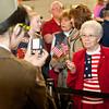 4-5-14<br /> WWII veteran Jack Snyder returns to a surprise celebration from the Honor Flight.<br /> <br /> Kelly Lafferty | Kokomo Tribune