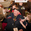 4-5-14<br /> WWII veteran Jack Snyder returns to a surprise celebration from the Honor Flight.<br /> WWII veteran Jack Snyder is greeted by his great grandchildren 12-year-old Faith Hewitt, wearing Snyder's WWII uniform, and 4-year-old Leah Snyder, at the Indianapolis airport on Saturday night. Snyder went on the Honor Flight.<br /> Kelly Lafferty | Kokomo Tribune