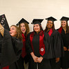 5-13-14<br /> IUK graduation<br /> Hannah Brewster takes a group selfie with her fellow Communications B.S. graduates before the IUK graduation ceremony began on Tuesday.<br /> Kelly Lafferty | Kokomo Tribune