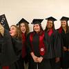 5-13-14<br /> IUK graduation<br /> Hannah Brewster takes a group selfie with her fellow Communications B.S. graduates before the IUK graduation ceremony began on Tuesday.<br /> Kelly Lafferty   Kokomo Tribune