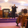 1-1-13<br /> The 150th Year Commemoration of the Emancipation Proclamation at Fountain of Life Word & Worship Center. Superintendent Tom Glenn, senior pastor, Emmanuel Christian Fellowship Center in Indianapolis preaches to the crowd.<br /> KT photo | Tim Bath