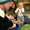 1-9-13<br /> Kokomo Howard County Public Library reading program designed for babies under 3. Lots of hands on visuals with the reading and songs. Children's Librarian Amber Sefton sings a song with Lily Jay, 6 months listening.<br /> KT photo | Tim Bath