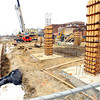 1-15-14   --- Work on the city parking garage and 35 unit apartment buiding atop it.  -- <br />   KT photo | Tim Bath