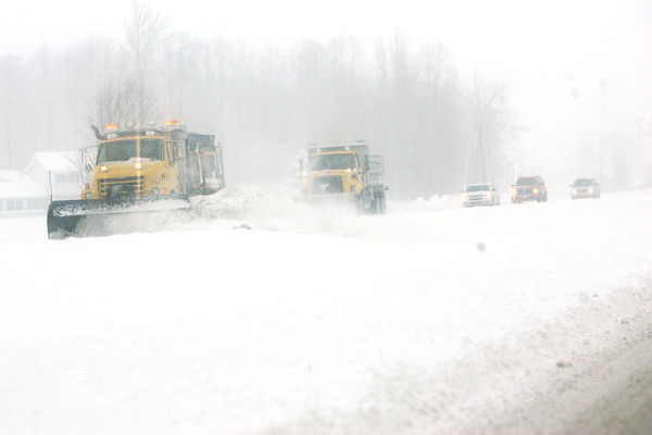 1-5-14   --- Heavy snow blanketed Kokomo and surrounding areas. INDOT snow plows work to clear US31 at the Howard Tipton County line. -- <br />   KT photo | Tim Bath