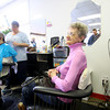 1-17-14   --- Hair's All of Us salon is a group of ladies who lost their businesses on Arnold Court in the November tornado. Venica Hokenson talks about being in the bathroom between the two businesses when the storm came through. She lived upstairs. Sandy Griffin is to the right. Brandy Clark is cutting hair to the left. -- <br />   KT photo | Tim Bath