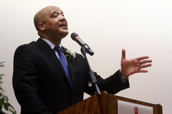 1-12-14<br /> Dr. Martin Luther King, Jr. Community Celebration 2014<br /> Congressman Andre Carson speaks during the Dr. Martin Luther King, Jr. Community Celebration at IUK on Sunday.<br /> KT photo | Kelly Lafferty