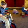 1-16-14   --- Little School at 2000 West Jefferson. Jonathan Rossiter riding a trike during gym class. -- <br />   KT photo | Tim Bath