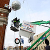 12-30-13   ---  Kokomo TechnoKats install the new years ball on Monday afternoon for the new years eve downtown celebration. -- <br />   KT photo | Tim Bath