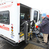 1-15-14   --- Mary DePalma gets picked up by the City of Kokomo Spirit of Kokomo bus at Bona Vista at the Crossing by driver David Sloan.  -- <br />   KT photo | Tim Bath
