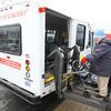 1-15-14   --- Mary DePalma gets picked up by the City of Kokomo Spirit of Kokomo bus at Bona Vista at the Crossing by driver David Sloan.  -- <br />   KT photo | Tim Bath