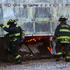 1-14-14   --- Kokomo firefighters battle a fire at the City of Kokomo Central Equipment garage at 919 Millbrook Lane on Tuesday evening. The fire destroyed six of the Spirit of Kokomo's buses.  -- <br />   KT photo | Tim Bath
