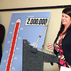 1-21-14<br /> United Way wrap up<br /> Kathy Young, right, campaign chairman of 2013 gives a speech after Abbie Smith, Howard County United Way president unveils how much money was raised during last years United Way campaign.<br /> KT photo | Kelly Lafferty