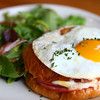 1-2-14<br /> Cafe Du Cirque<br /> The Croque Madame is a popular item on Cafe Du Cirque's menu.<br /> KT photo | Kelly Lafferty