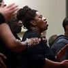1-12-14<br /> Dr. Martin Luther King, Jr. Community Celebration 2014<br /> The Mt. Pisgah Baptist Church Choir sings during the Dr. Martin Luther King, Jr. Community Celebration at IUK on Sunday.<br /> KT photo | Kelly Lafferty
