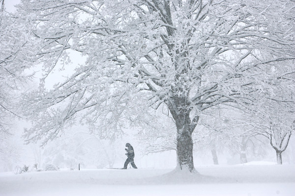 1-5-14   --- Heavy snow blanketed Kokomo and surrounding areas. A cross country skier makes his way through Kokomo Country Club. -- <br />   KT photo | Tim Bath
